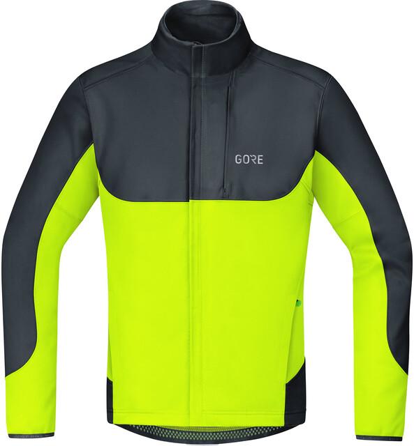 GORE WEAR C5 Gore Windstopper Thermo Trail Jacke Herren blackneon yellow